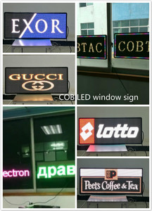 COB LED window signs