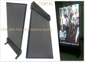 COB ultra-thin shop window display